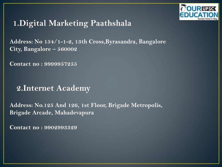 1.Digital Marketing Paathshala