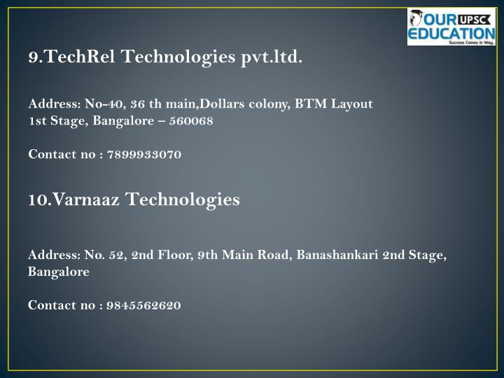 9.TechRel Technologies pvt.ltd.