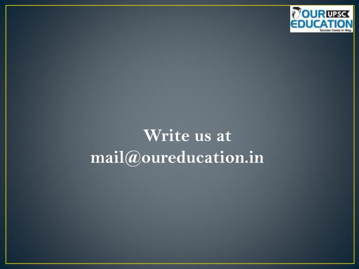 Write us at