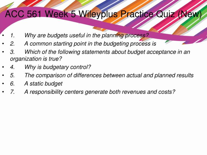 ACC 422 Week 3 WileyPlus Assignment Exercises