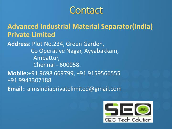 Advanced Industrial Material Separator(India)