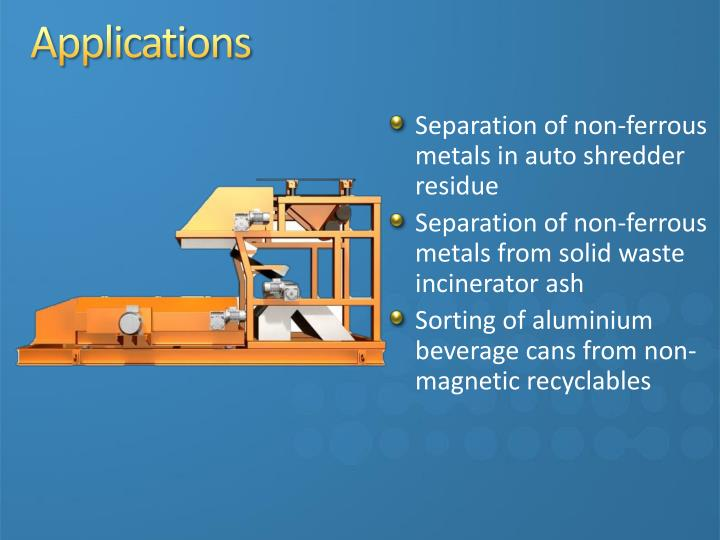 Separation of non-ferrous