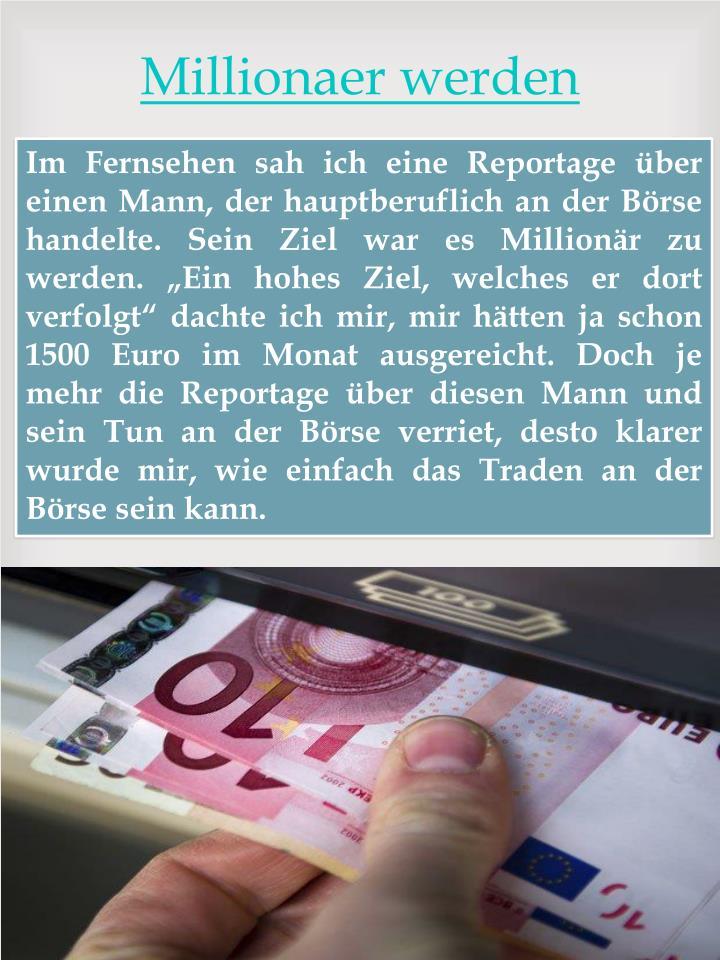 Millionaer werden
