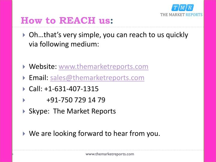 How to REACH us