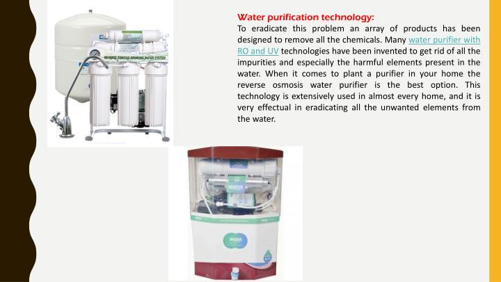 Water purification technology: