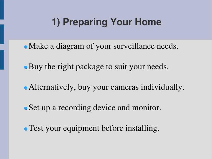 1 preparing your home