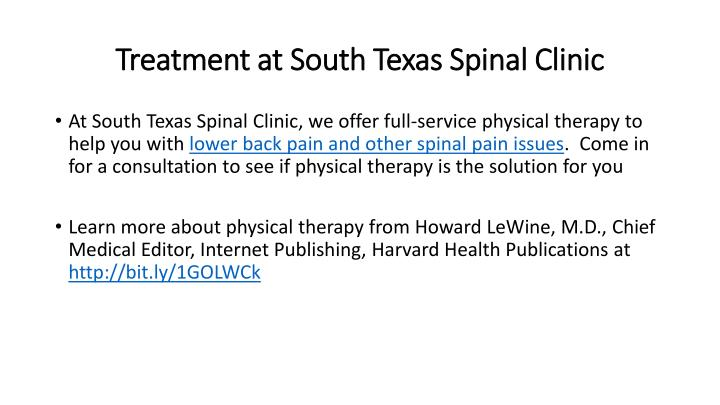 Treatment at South Texas Spinal Clinic