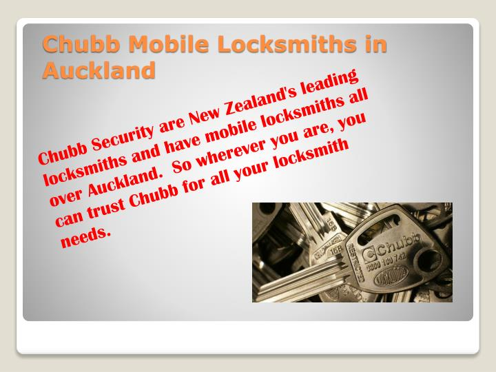 Chubb Security are New Zealand's leading