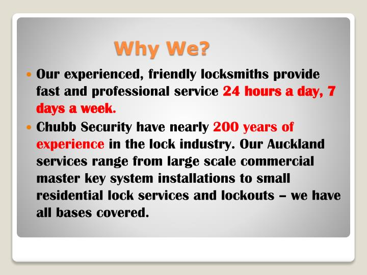 Our experienced, friendly locksmiths provide fast and professional service