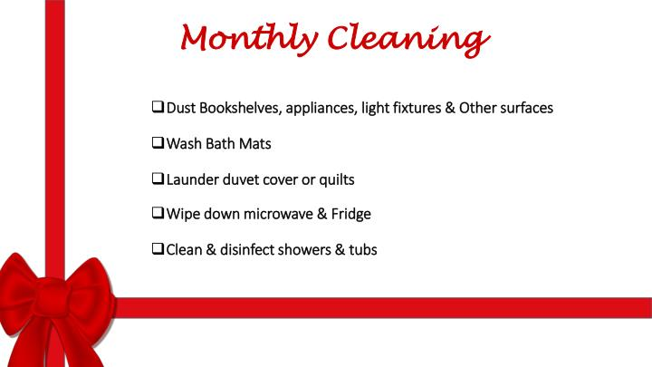 Monthly Cleaning
