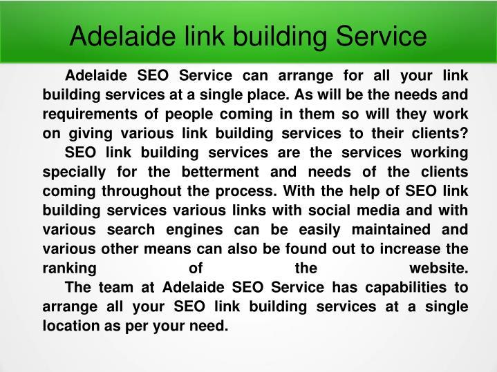 Adelaide link building Service
