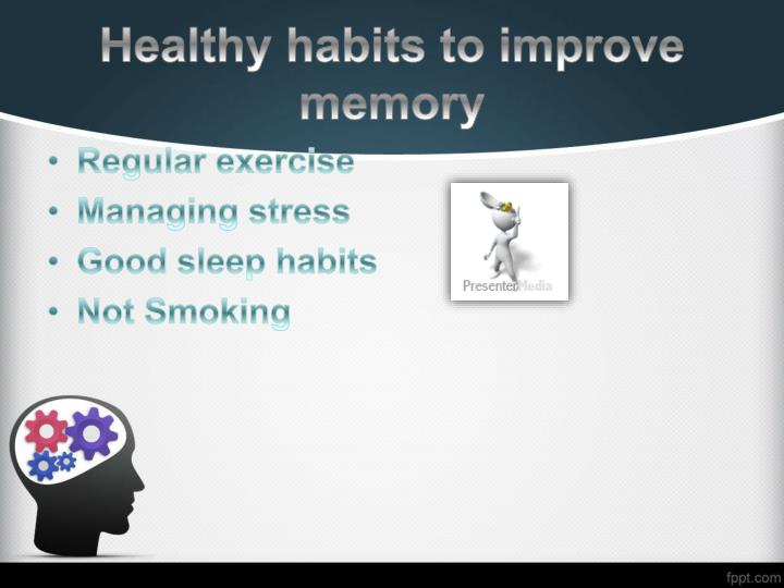 Healthy habits to improve memory