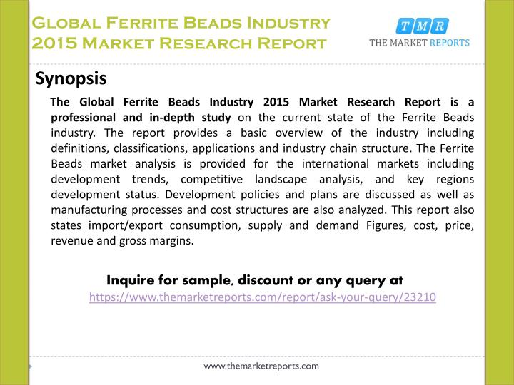 Global ferrite beads industry 2015 market research report