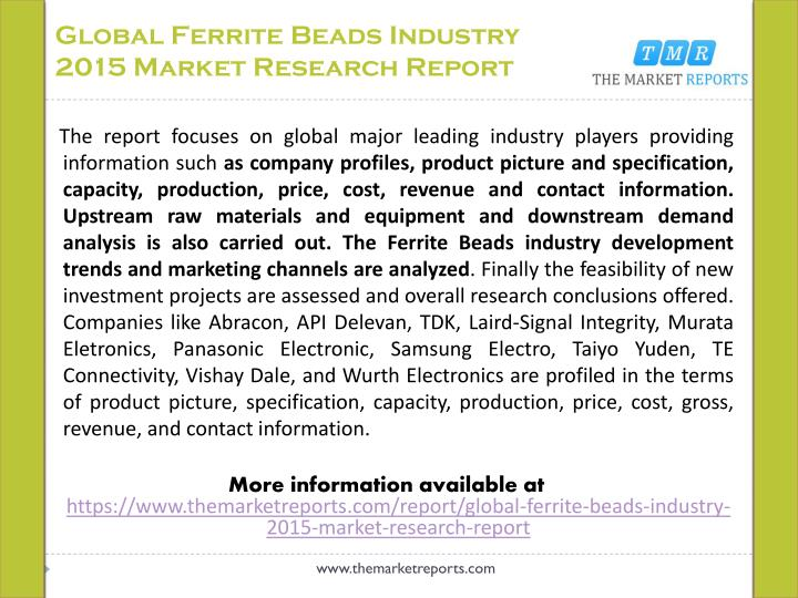 Global ferrite beads industry 2015 market research report1
