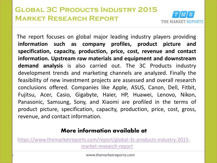 Global 3c products industry 2015 market research report1