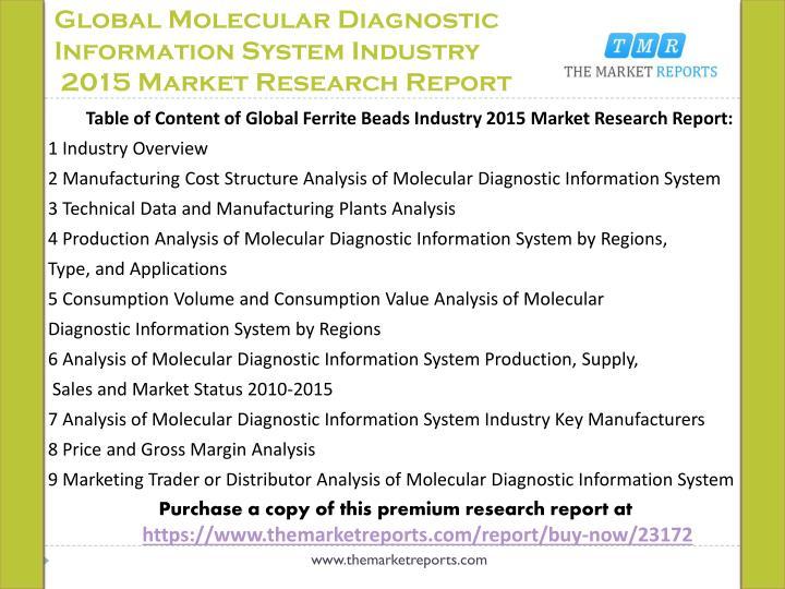 Global Molecular Diagnostic Information System