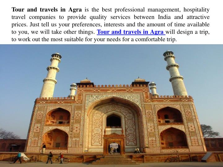 Tour and travels in Agra