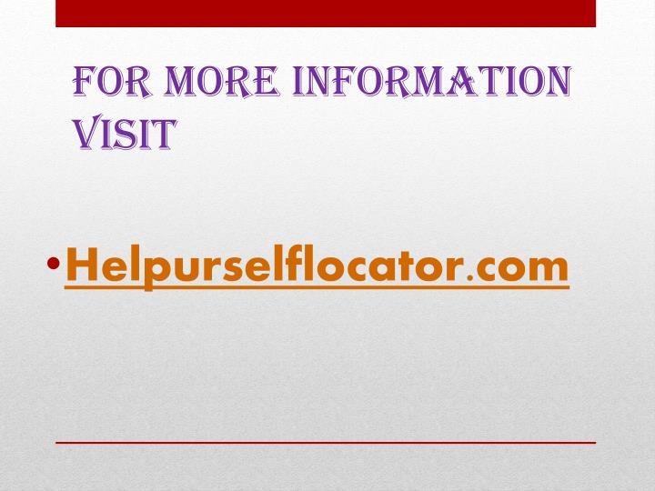 Helpurselflocator.com