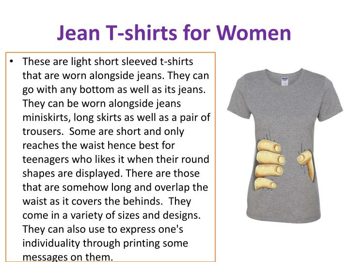 Jean T-shirts for Women