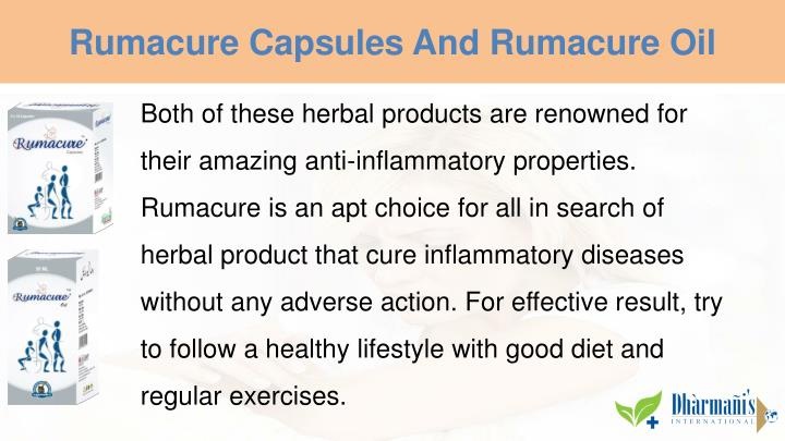 Rumacure Capsules And Rumacure Oil