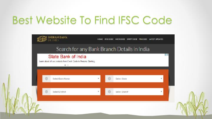 Best Website To Find IFSC Code