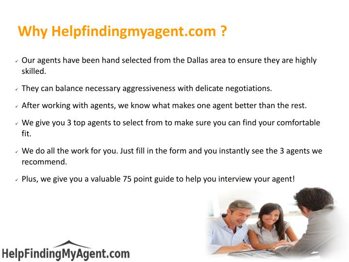 Why Helpfindingmyagent.com ?