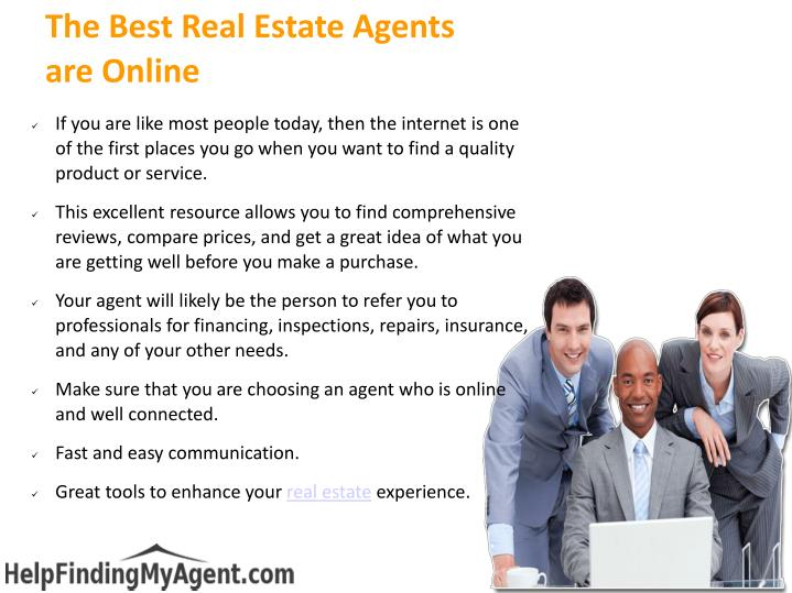 The best real estate agents are online