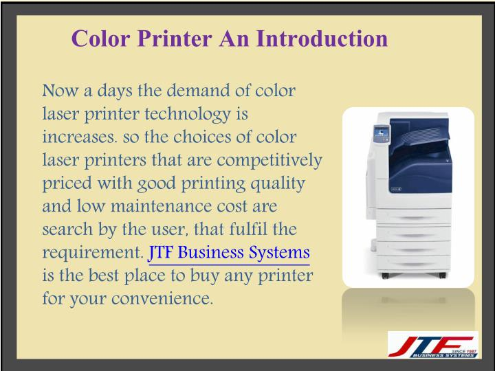 Color Printer An Introduction