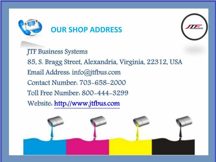 OUR SHOP ADDRESS