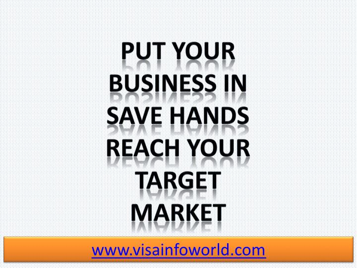 Put your business in Save Hands