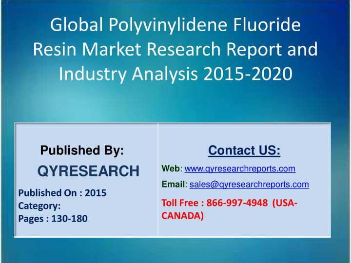 Global Polyvinylidene Fluoride