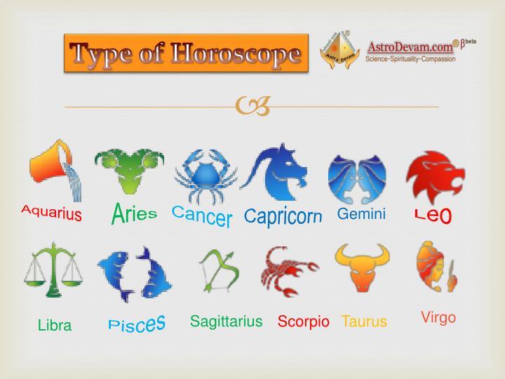 Type of Horoscope