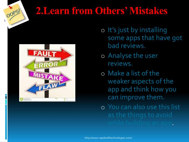2.Learn from Others' Mistakes