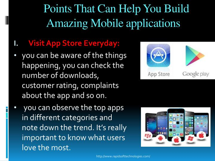 Points That Can Help You Build Amazing Mobile applications