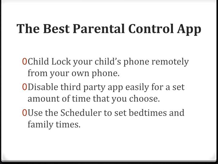 The	Best	Parental	Control	App