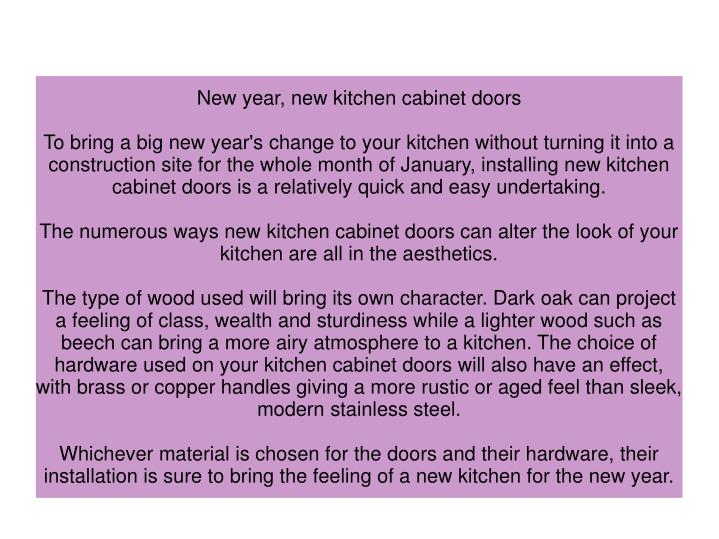 New year, new kitchen cabinet doors