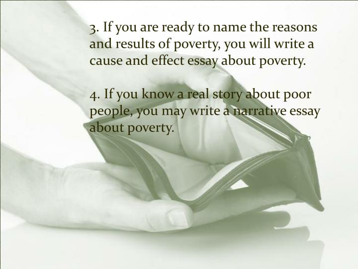 Write my poverty cause and effect essay