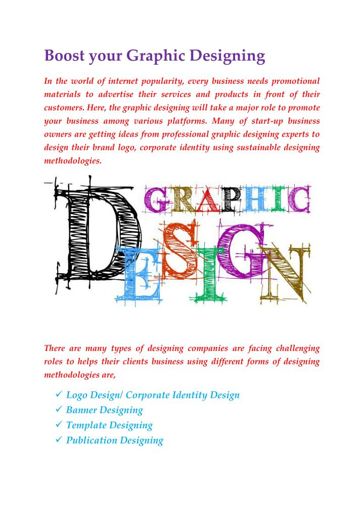 Boost your Graphic Designing