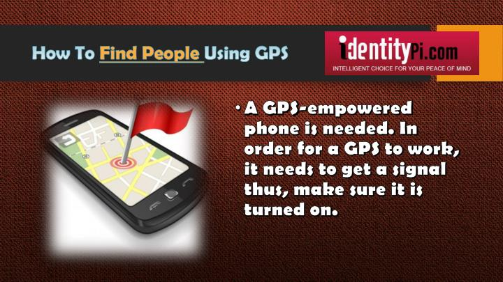 How to find people using gps
