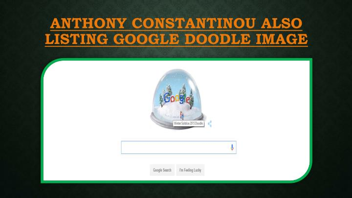 ANTHONY CONSTANTINOU ALSO