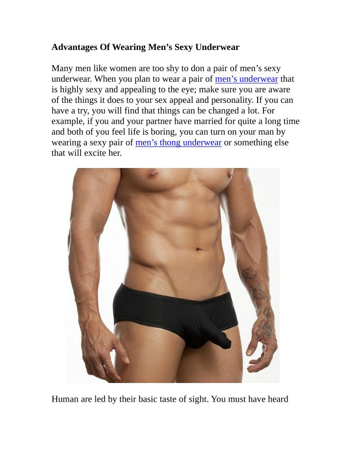 Advantages Of Wearing Men's Sexy Underwear
