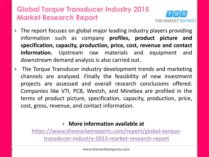 Global torque transducer industry 2015 market research report1