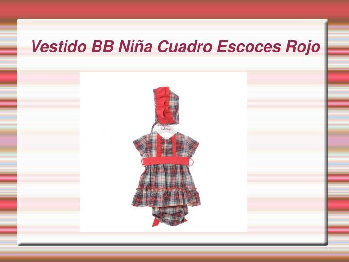 Vestido BB Niña Cuadro Escoces Rojo