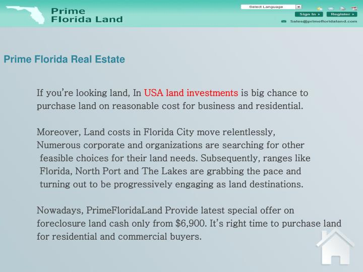Prime florida real estate