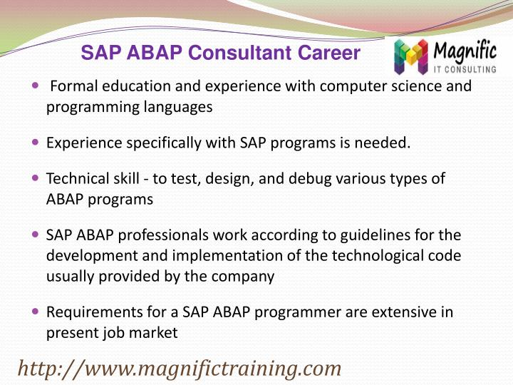 SAP ABAP Consultant Career