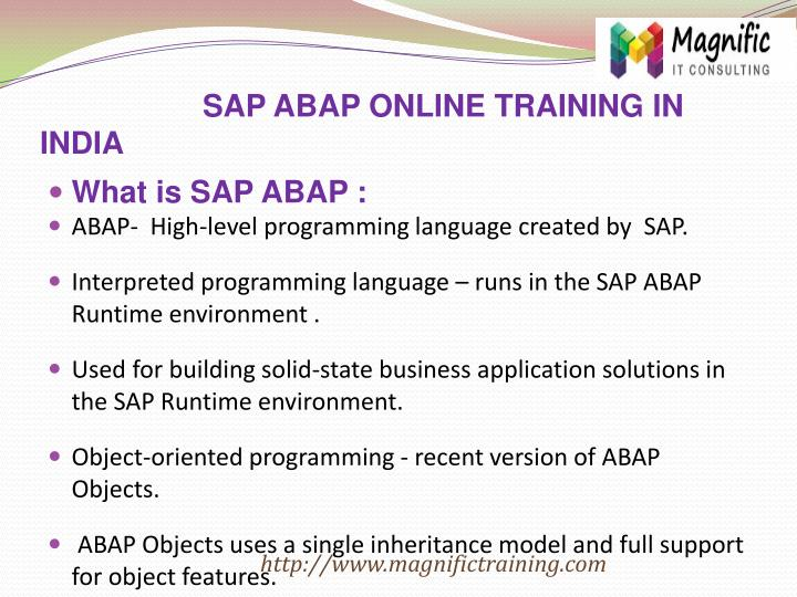 SAP ABAP ONLINE TRAINING IN