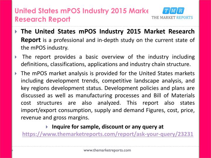 United states mpos industry 2015 market research report