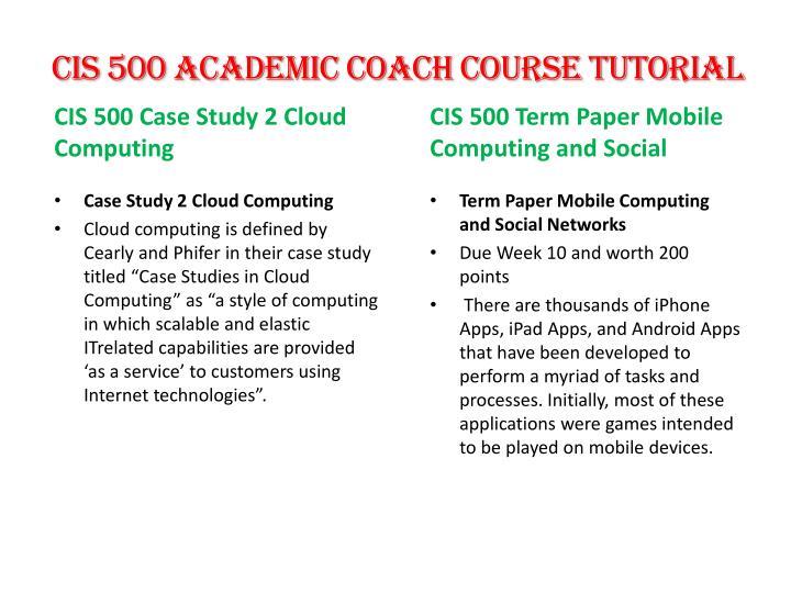 CIS 500 Academic