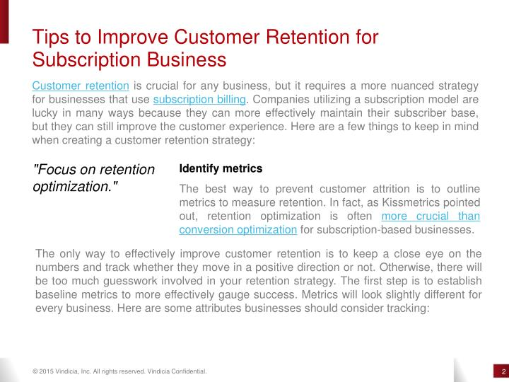 Tips to Improve Customer Retention for