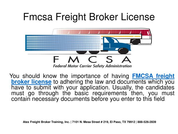 Fmcsa Freight Broker License